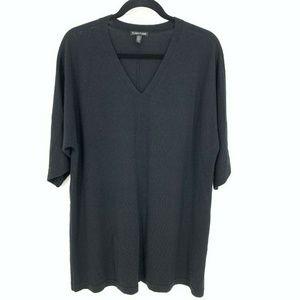 Eileen Fisher V Neck Merino Wool Sweater Dress